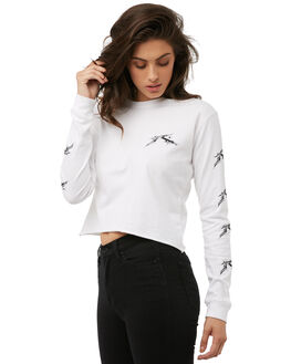 WHITE OUTLET WOMENS RUSTY TEES - TTL0881WHT