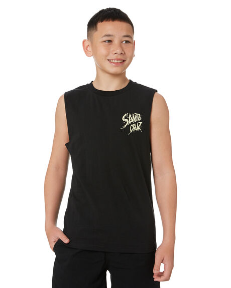 BLACK KIDS BOYS SANTA CRUZ TOPS - SC-YTC0431BLK