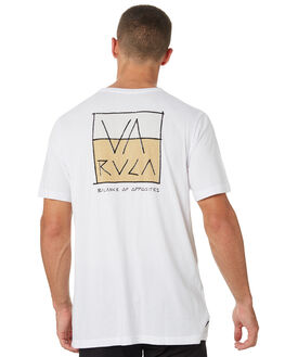 WHITE MENS CLOTHING RVCA TEES - R182094AWHT
