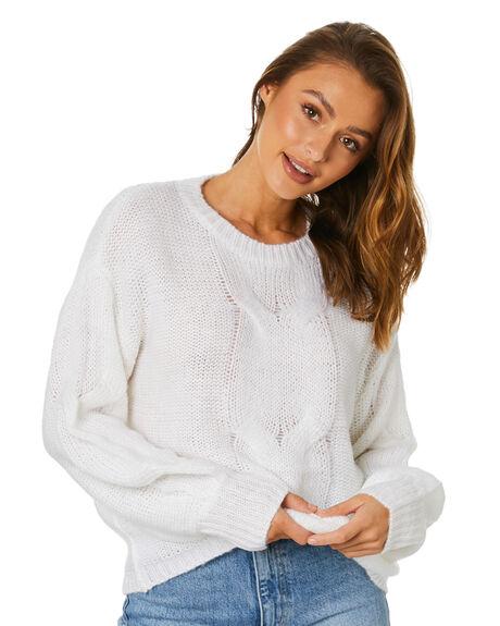 WHITE WOMENS CLOTHING SNDYS KNITS + CARDIGANS - SFK062WHT