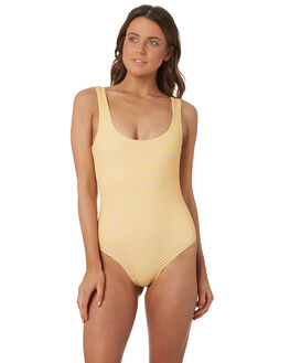 GOLDEN YELLOW CHECK WOMENS SWIMWEAR CAMP COVE SWIM ONE PIECES - NH18-YCHECK-FP001