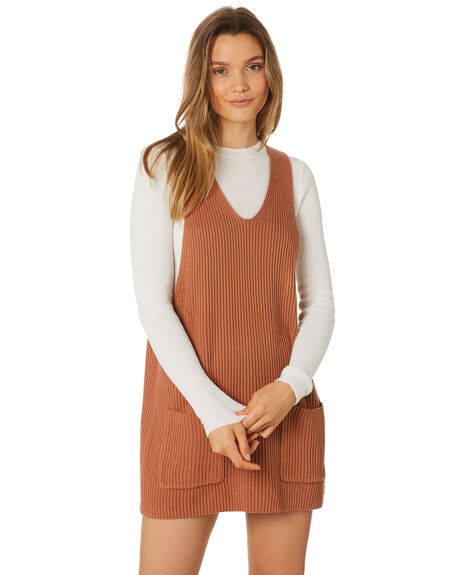 TERRACOTTA WOMENS CLOTHING RHYTHM DRESSES - JAN19W-DR09-TER