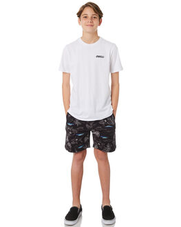 WHITE KIDS BOYS SWELL TOPS - S3184016WHITE