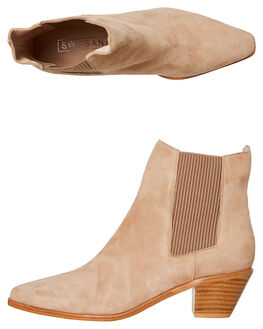 STONE SUEDE WOMENS FOOTWEAR SOL SANA BOOTS - SS201W318SSDE