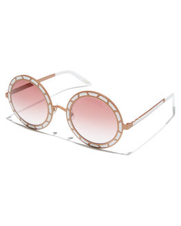 ROSE GOLD  WHITE WOMENS ACCESSORIES PARED EYEWEAR SUNGLASSES - PE1406RWRSGLD