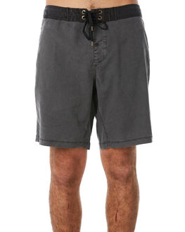 BLACK OIL MENS CLOTHING AFENDS BOARDSHORTS - 10-01-076BLKOI