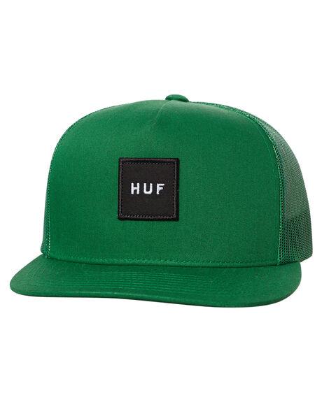 GREEN MENS ACCESSORIES HUF HEADWEAR - HT61027GRN