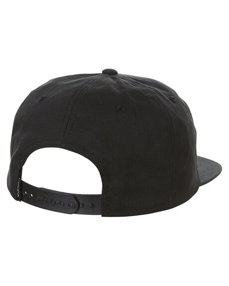 BLACK MENS ACCESSORIES RVCA HEADWEAR - R173575ABLK
