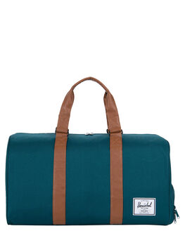 DEEP TEAL TAN MENS ACCESSORIES HERSCHEL SUPPLY CO BAGS + BACKPACKS - 10026-02108-OSTEAL