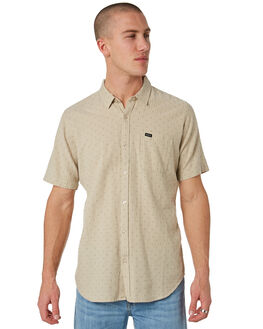 OATMEAL MENS CLOTHING RVCA SHIRTS - R173181OAT