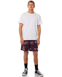 BURGUNDY MENS CLOTHING IMPERIAL MOTION BOARDSHORTS - 201901007024BUR