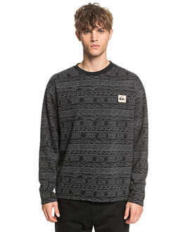BLACK TONAL MENS CLOTHING QUIKSILVER JUMPERS - EQYFT04106-KVJ6