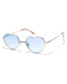 BRUSHED SILVER BROWN WOMENS ACCESSORIES CRAP SUNGLASSES - DOCTL905BFBSLBD