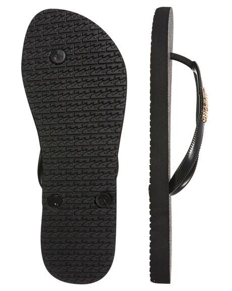 BLACK WOMENS FOOTWEAR BILLABONG THONGS - 6681809BLK
