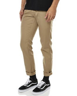 LEATHER RINSED MENS CLOTHING CARHARTT PANTS - I003367-8Y-02LEATR