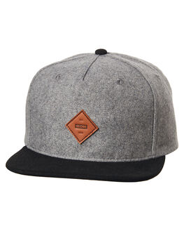 GREY MARLE MENS ACCESSORIES GLOBE HEADWEAR - GB71729003GRYMR