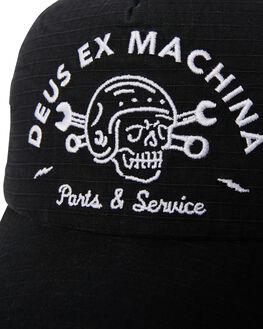 BLACK MENS ACCESSORIES DEUS EX MACHINA HEADWEAR - DMF87352BLK