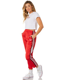RED WOMENS CLOTHING STUSSY PANTS - ST181604RED