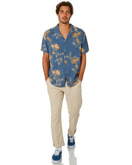 PACIFIC BLUE MENS CLOTHING RHYTHM SHIRTS - JAN19M-WT05-BLU
