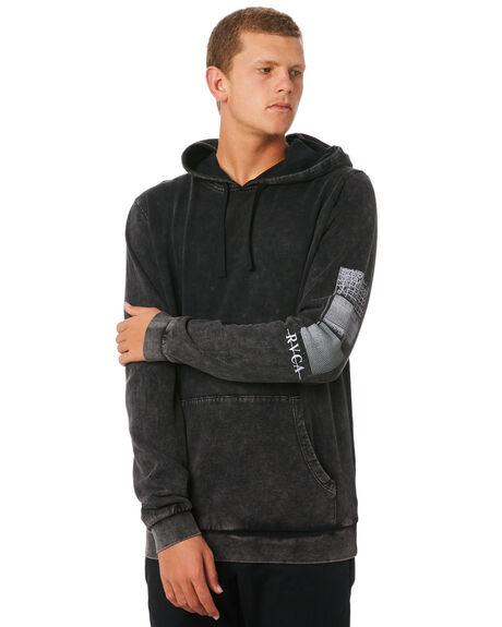BLACK ACID MENS CLOTHING RVCA JUMPERS - R193160BKACD
