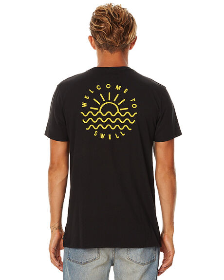 BLACK MENS CLOTHING SWELL TEES - S5162001BLK