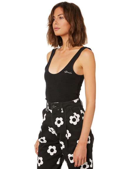 BLACK WOMENS CLOTHING AFENDS SINGLETS - W191085BLK