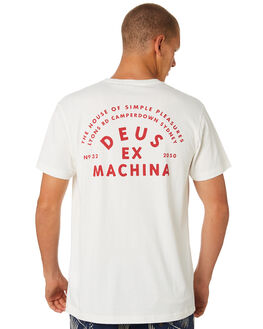 VINTAGE WHITE MENS CLOTHING DEUS EX MACHINA TEES - DMS81094CVBWHT