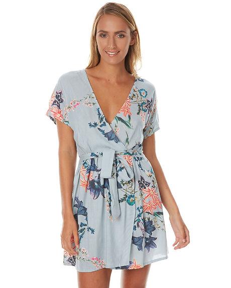 FLORAL BLUE WOMENS CLOTHING LILYA DRESSES - RVPSD24FBLU