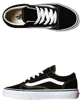 BLACK WHITE KIDS BOYS VANS SNEAKERS - VN-0W9T6BTBKWH