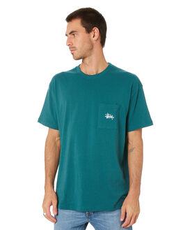 TEAL MENS CLOTHING STUSSY TEES - ST005001TEAL