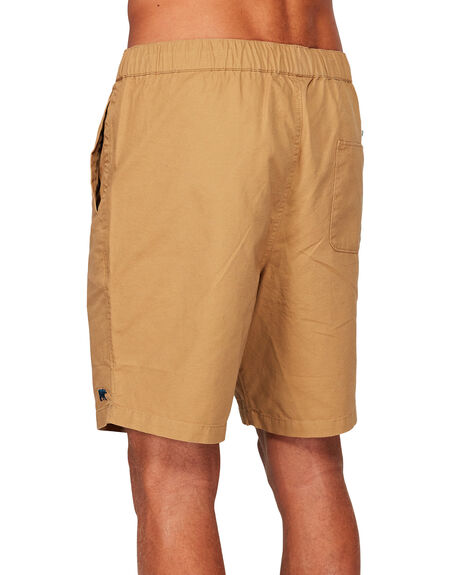 DARK KHAKI MENS CLOTHING ELEMENT SHORTS - 173365DKHA