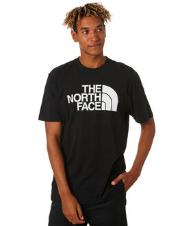 BLACK WHITE MENS CLOTHING THE NORTH FACE TEES - NF0A46ZRKY4