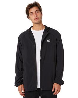 BLACK BLACK MENS CLOTHING ADIDAS JACKETS - DU8322BLK