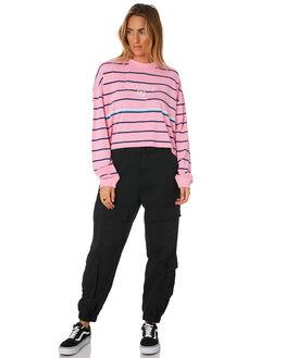 MID PINK WOMENS CLOTHING STUSSY TEES - ST196118MPNK