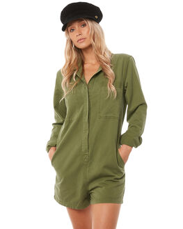 ARMY GREEN WOMENS CLOTHING THRILLS PLAYSUITS + OVERALLS - WTA8-906EARMY