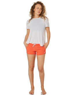 MANDARIN RED OUTLET WOMENS RIP CURL SHORTS - GBOEJ14869