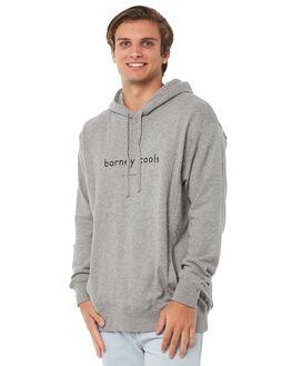 GREY MELANGE MENS CLOTHING BARNEY COOLS JUMPERS - 408-CR1GMLNG
