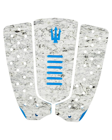 WHITE MARBLE BLUE BOARDSPORTS SURF FK SURF TAILPADS - 1202WMBLU