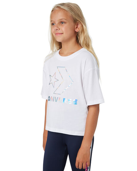 WHITE KIDS GIRLS CONVERSE TOPS - R468987001
