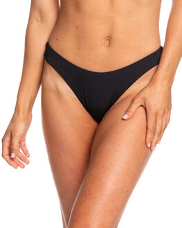 TRUE BLACK WOMENS SWIMWEAR ROXY BIKINI BOTTOMS - ERJX403865-KVJ0