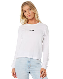 WHITE WOMENS CLOTHING HURLEY TEES - AJ3628-100