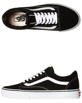 BLACK MENS FOOTWEAR VANS SKATE SHOES - SSVN-0D3HY28BLKM