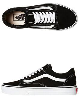 BLACK BLACK WHITE WOMENS FOOTWEAR VANS SNEAKERS - SSVN-0D3HY28BLKW