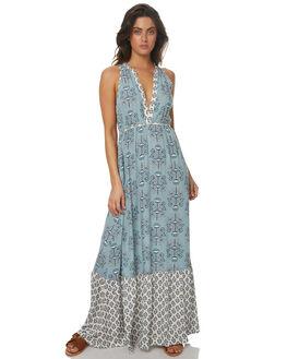 SEA BLUE WOMENS CLOTHING TIGERLILY DRESSES - T372416SEA