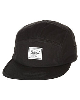 BLACK MENS ACCESSORIES HERSCHEL SUPPLY CO HEADWEAR - 1007-0001-OSBLK