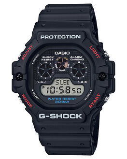 BLACK MENS ACCESSORIES G SHOCK WATCHES - DW5900-1DBLK