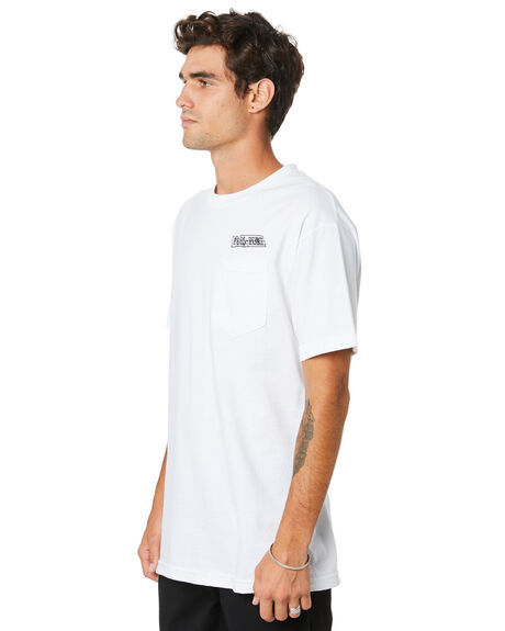 WHITE MENS CLOTHING PASS PORT TEES - PPMIRRORTEEWHT
