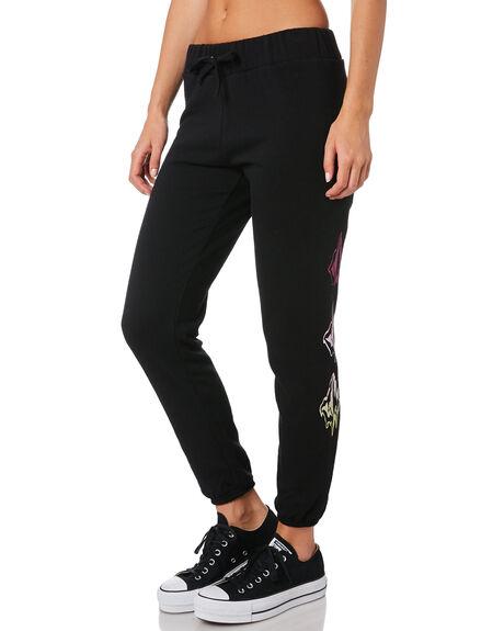 BLACK WOMENS CLOTHING VOLCOM PANTS - B1141807BLK