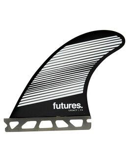 GREY BLACK BOARDSPORTS SURF FUTURE FINS FINS - 1140-160-00GRYBK
