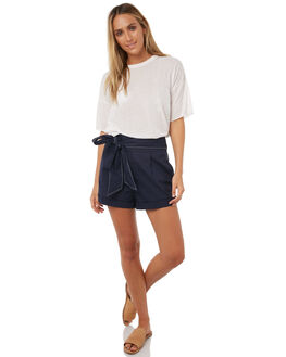 FRENCH NAVY WOMENS CLOTHING CAMILLA AND MARC SHORTS - QCMP4424FRN